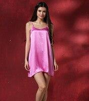 2 개 100% 진짜 실크 여성 잠옷 스파게티 스트랩 기본 슬립 드레스 핑크 블랙 자홍색 레드 골드 단색 Sml XL 2XL 3XL