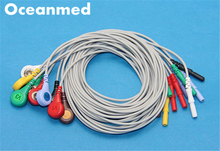 Generic DIN style Safety 10 Leads ECG Holter Cable Snap Leadwires set