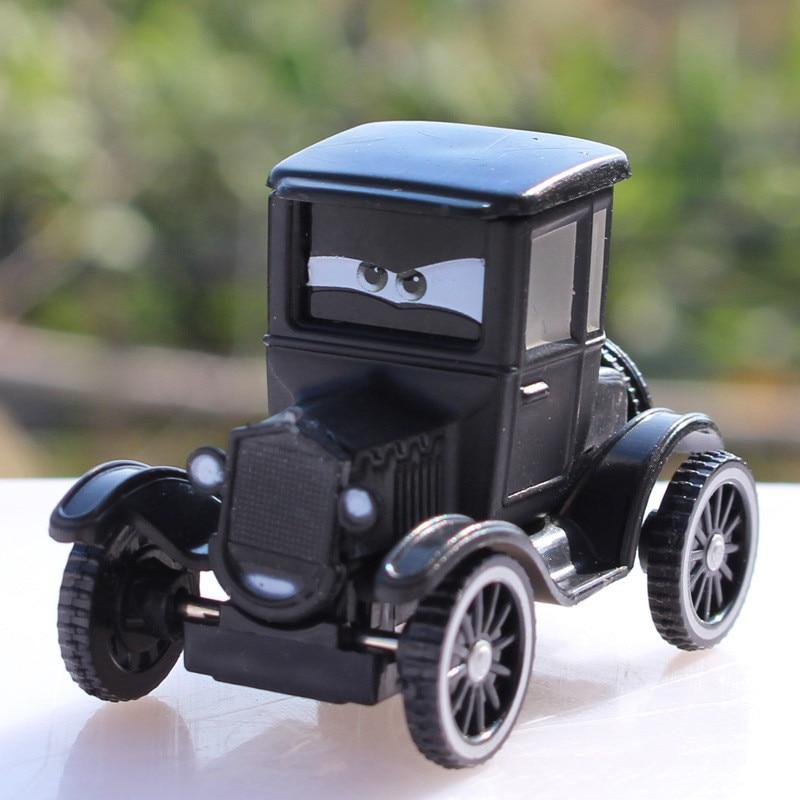 McQueen Pixar Cars 2 Lizzie Black Diecast Alloy Metal Toy Car For Children Gift 1:55 Loose Racing Car Model