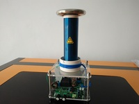 High Power Small Integrated Solid State Music Tesla Coil Finished Man Made Lightning Tesla Coil Customization