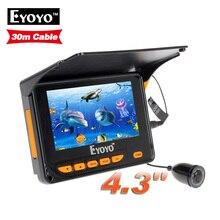 Бесплатная Доставка! 30 М Подводные Видео Рыбалка Камеры Эхолот 4.3 «ЖК-Монитор 10 шт. СИД ИК Угол 150 градусов с Солнцезащитным Козырьком