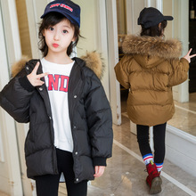 Toddler Girl Fur Collar Girls Winter Clothes Down Coat for Kids Snowsuit Boys Jackets Unisex Coats Outerwear Children Clothing