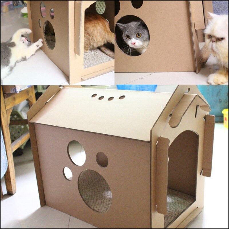 Япония стиль домашних кошек милые утолщенные игрушки когтеточки картон из гофрированной бумаги дом для котенка прочный царапины доска тов