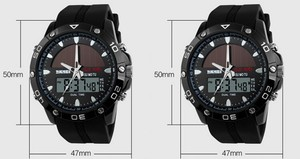 Image 4 - 50M Waterproof Solar Watches Outdoor Military Men Sports Watches Solar Power Digital Quartz Watch Dual Time Men Casual Watch