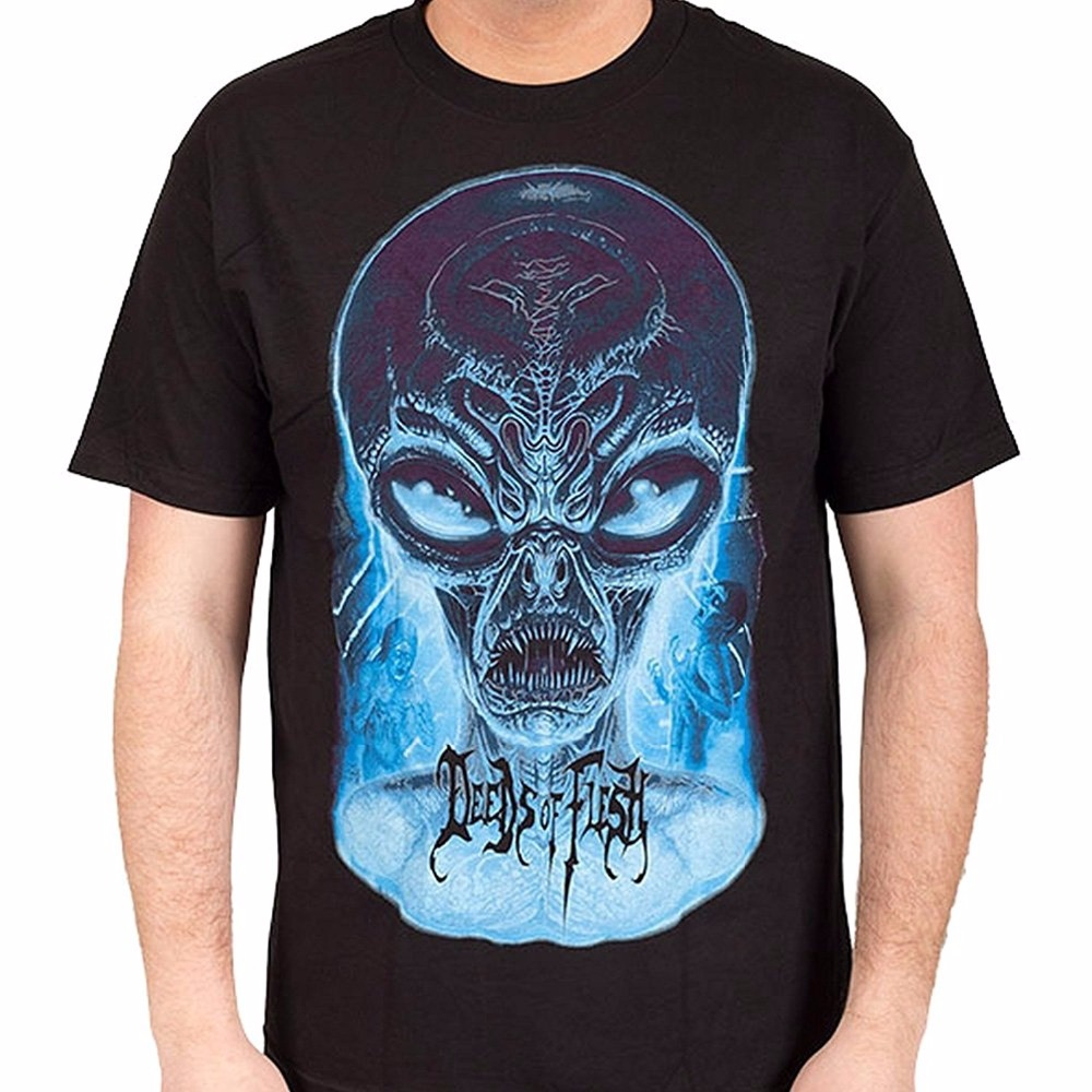 Deeds Of Flesh Mens Alien In The Dark T Shirt O-Neck Fashion Short Sleeved T-Shirt For Men Summer Funny Loose Tee Shirt ...
