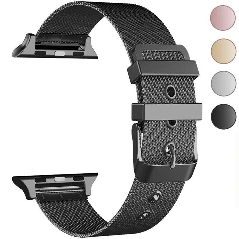 ASHEI Stainless Steel Mesh Milanese Band for Apple Watch 38mm 42mm Metal Wristband Replacement Strap for iWatch Series 3 2 1 apple watch band 38mm 42mm secbolt metal replacement wristband sport strap for apple watch nike series 3 series 2 series 1
