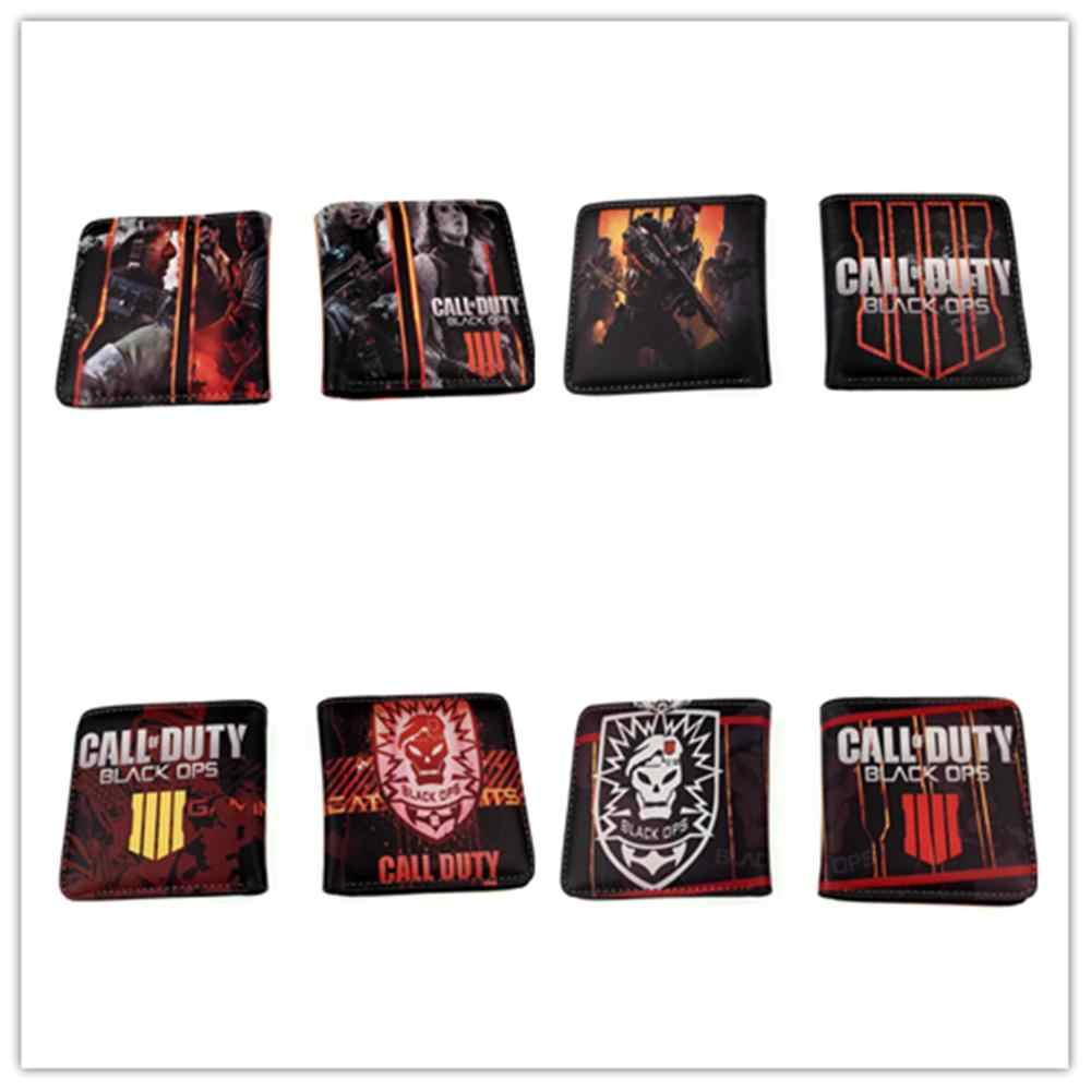 Anime Call of Duty Logo Wallet Unisex Color printing wallet New PU Short Wallet  boys girls Credit Card Purse