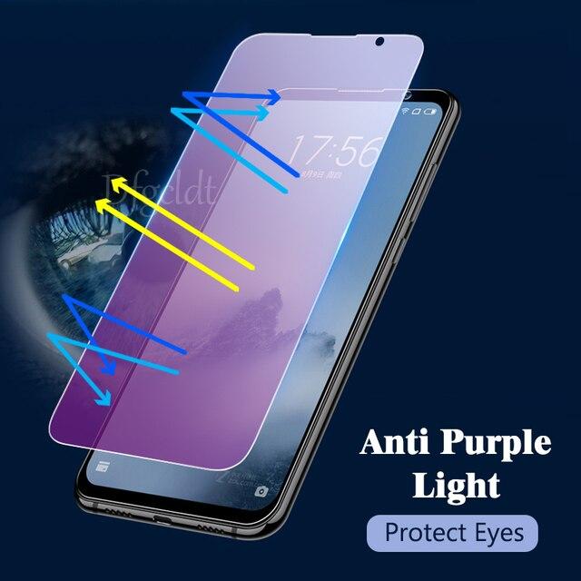Verre de protection Anti-lumière bleue pour Meizu M6 Note M6S 15 M15 verre de protection décran sur le pour Meizu Pro 7 Plus verre trempé