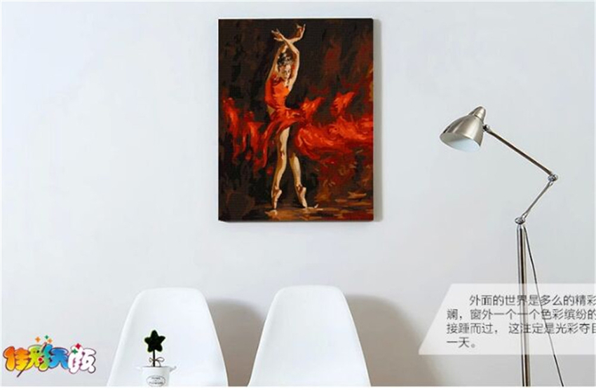 blank canvas for painting sexy girl wall canvas painting for room decor dancing woman G286