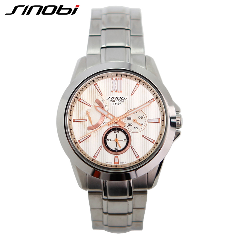 Si I Hours Display Waterproof 10 Atm Watches Men Stainless Steel Band Watches For Men Calendar Display Multifunction Relojes