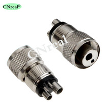 цена на 2 pcs Dental Turbine Adapter Changer 4 to 2 Holes for High Speed Handpiece Dentist Equipment