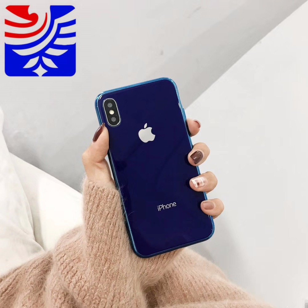 PEIPENG Luxury made of electroplated glass Anti-fall Phone Cases For iphone 6 6S 7 8 Plus X Xs Max Christmas gift Girl Simple 04