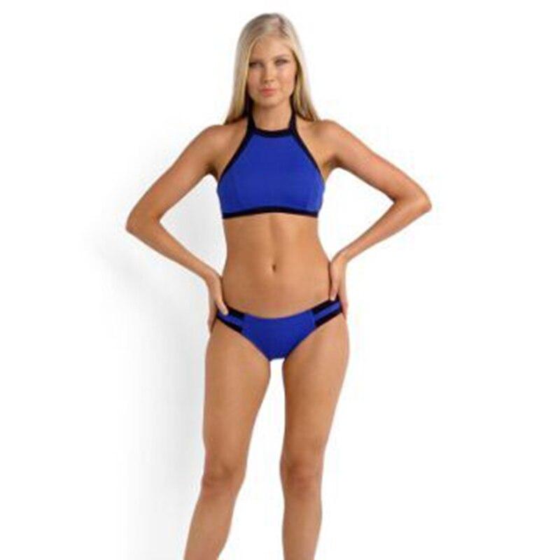 P & j Impreso Traje de Baño de Deportes de Las Mujeres traje de Baño Sexy Cuello