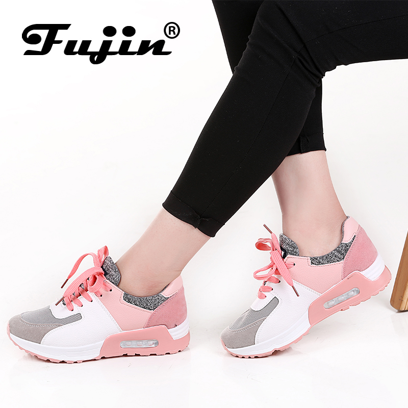 Fujin 2018 New Leather Shoes Handmade Brand Tenis Feminino Women Casual Shoes Lace Up Sneakers Fashion Flats Vulcanized Shoes fashion suede leather heeled sandals pointed toe lace up women pumps spikle high heel women shoes zapatos mujer