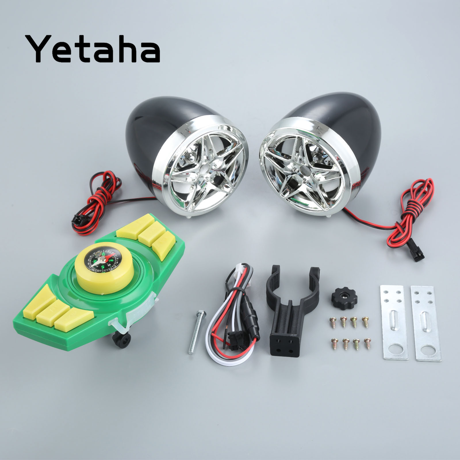 Yetaha Motorcycle Mp3 Player Audio Waterproof Motorcycle Speakers With Bluetooth Charging Phone Support USB TF Card Carrier