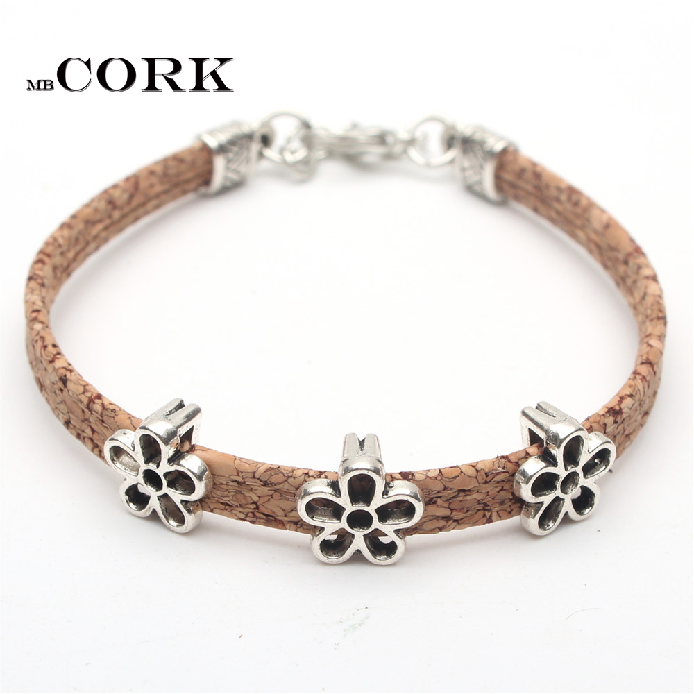 Natural Cork Bracelet With...
