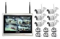 Wireless Security Camera System 8CH CCTV NVR Kit 1080P 6pcs Outdoor Bullet IP Camera HDMI 12