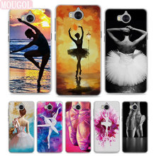 MOUGOL BALLERINA Ballet Dancer Girl Style Clear Hard Phone Case Cover For  Huawei Y3 Y5 2017