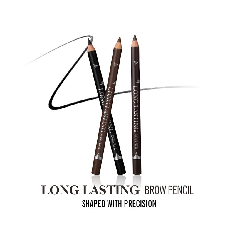 BIOAUNT 1pc Black Eyeliner Pencil Makeup Waterproof Brown Eye Pencils Matte Brown Eye Liner Pen Cosmetic Tools Caneta Delineador
