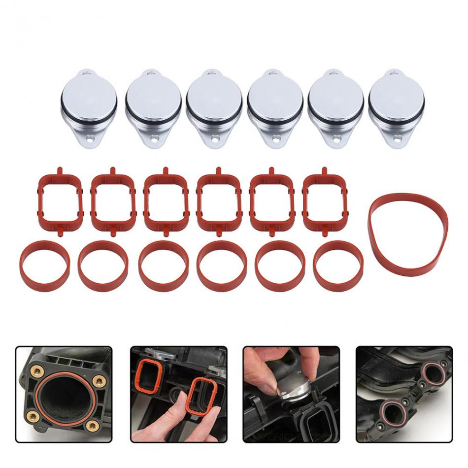 4/6pcs 22mm Diesel Swirl Flap Blanks Bungs Intake Gaskets Kit for BMW 320d 330d 520d 525d 530d Car-Styling