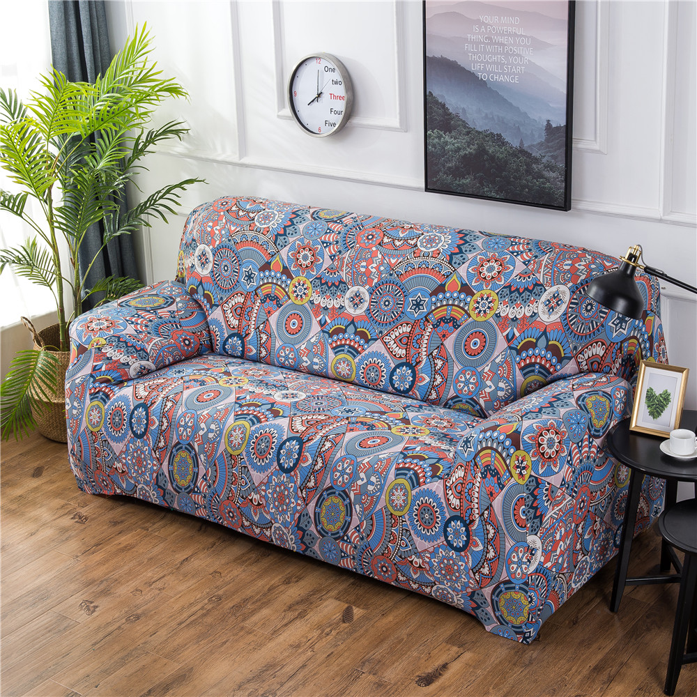 Geometic Bohemian Sofa Cover Spandex Stretch Protective
