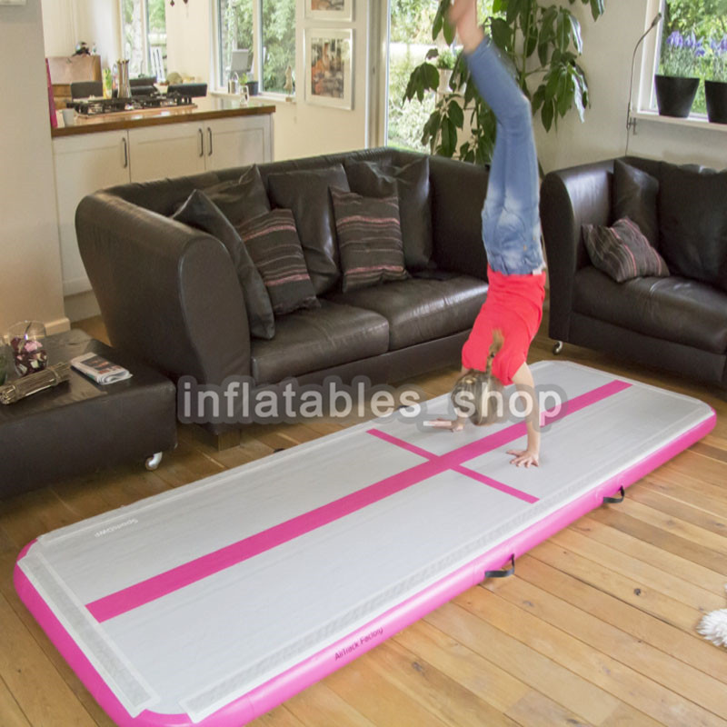 Free Shipping 5m Pink Inflatable Cheap Gymnastics Mattress Gym Tumble Airtrack Floor Tumbling Air Track For Sale|Inflatable Bouncers| |  - title=