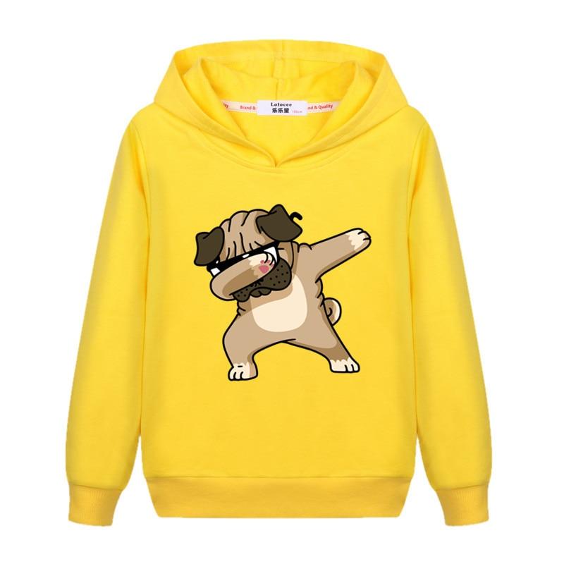Girls New Fashion Dabbing Hoodie Kids Autumn Cotton Dab Coat Baby Boy Funny Cartoon Sweatshirts 3-14T Child Tops Printed Clothes 1