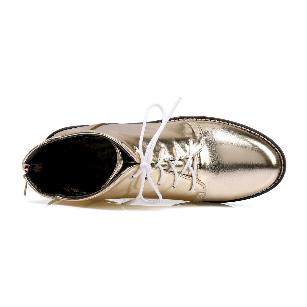 Noir or Cdpundari D'hiver Bottes Femme Faible À argent Chaussures Argent Plate Cheville Femmes Pour forme Or Talon FF1Hn4