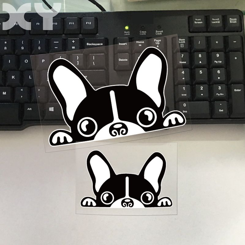 XY French Bulldog Truck Auto Sticker Decal Reflective Type Motorcycle Funny Car Vinyl Stickers Drop Shipping