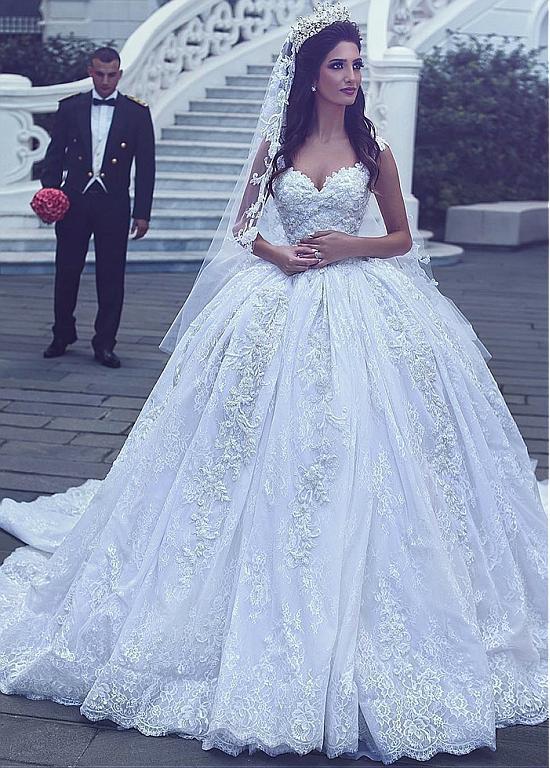 Us 242 1 10 Off Luxurious Vestido De Noiva 2019 Muslim Wedding Dresses Ball Gown Cap Sleeves Lace Beaded Boho Dubai Arabic Wedding Gown Bridal In