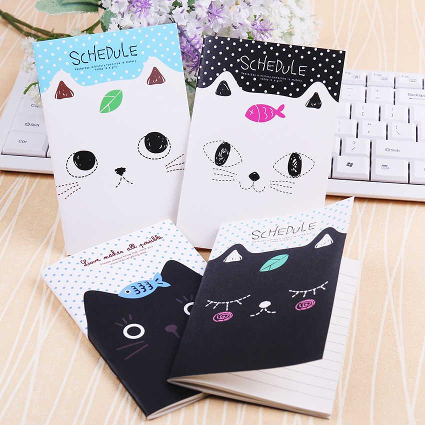 1PC משרד מכתבים חמוד חתול תלמידי מחברת יומן פנקס אוגדן מתנת נשלח באופן אקראי