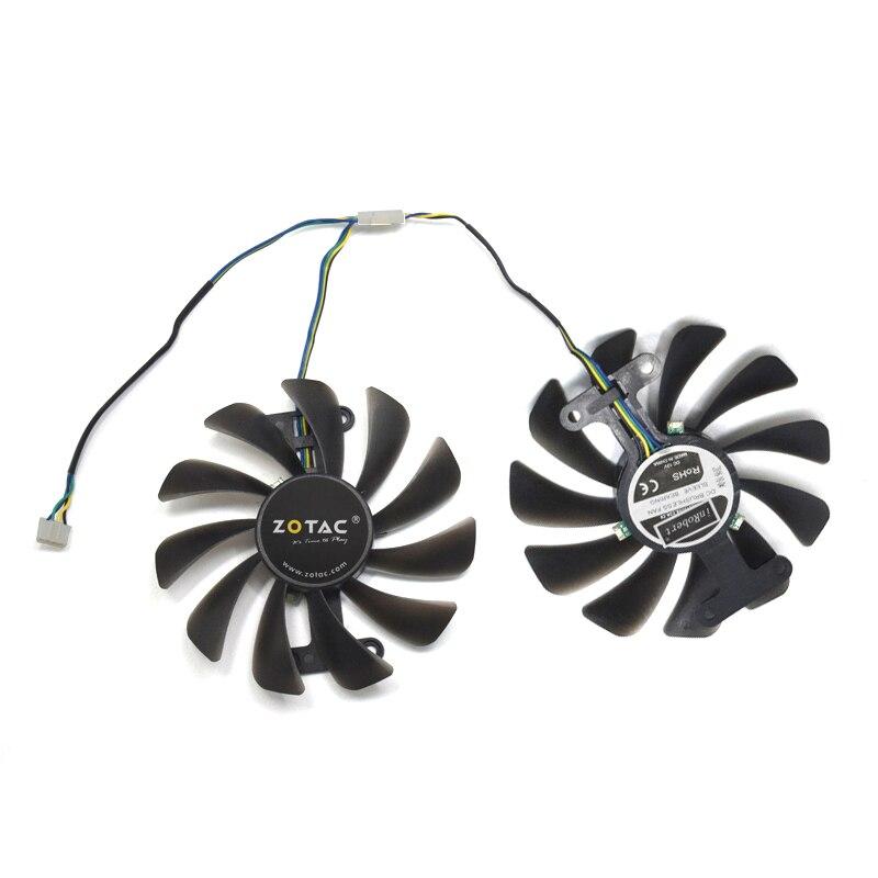 2 unids/set tarjetas de Video ventilador GTX1070/1080 GPU enfriador para KFA2 GTX1070 Ti EX GTX 1080/1070 EXOC tarjeta gráfica refrigeración como reemplazo