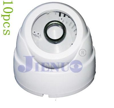 10 pcs/lot Hemisphere Trumpet Conch Black Plastic Security Dome Camera Housing цены онлайн