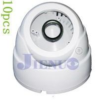 10 pcs/lot Hemisphere Trumpet Conch Black Plastic Security Dome Camera Housing