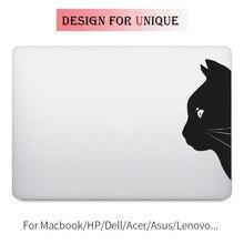 Black Cat Laptop Decal Sticker for Apple Macbook Decal Pro Air Retina Touch Bar 11 12 13 15 inch Vinyl Mac Mi Surface Book Skin