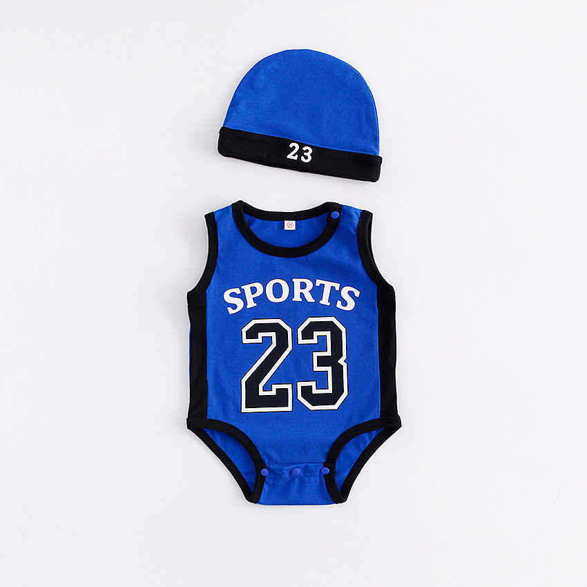 Bayi Yang Baru Lahir Romper Lucu Basket Pakaian Anak Anak Laki-laki Anak Perempuan Celana Kodok Roupas De Fashion Infantil Bayi 23 Olahraga Pakaian Musim Panas