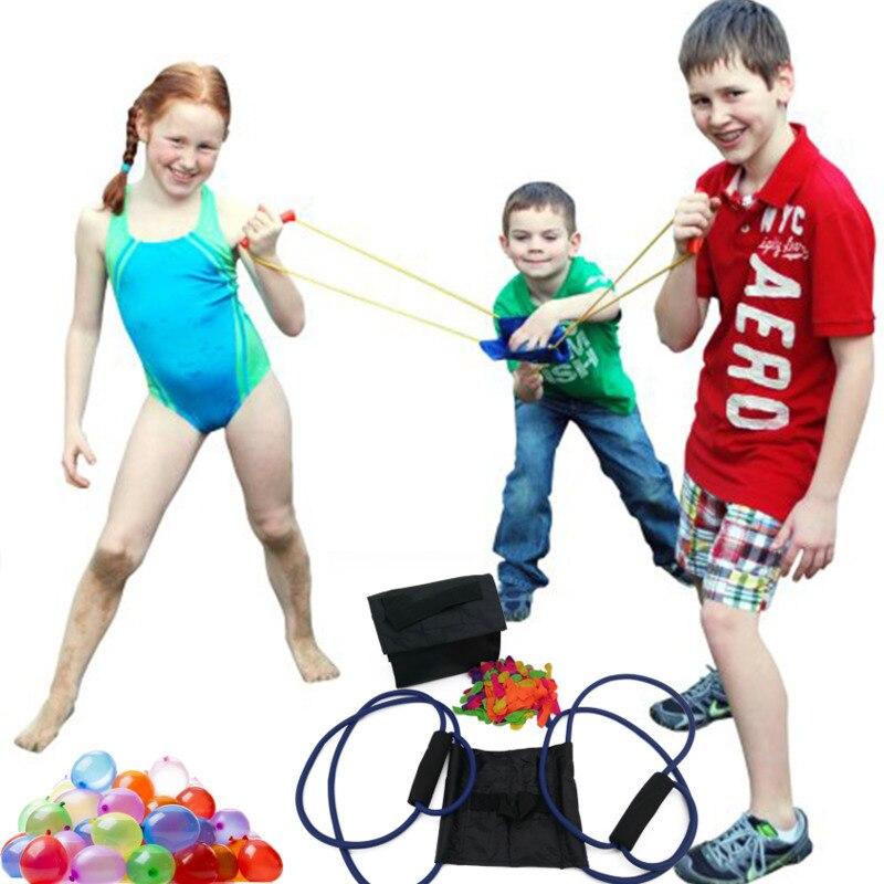 NEW Water Balloon Launcher Slingshot Outdoor Toys Water Gun Beach Water Fight Snowball Throw Snowballs Fighter