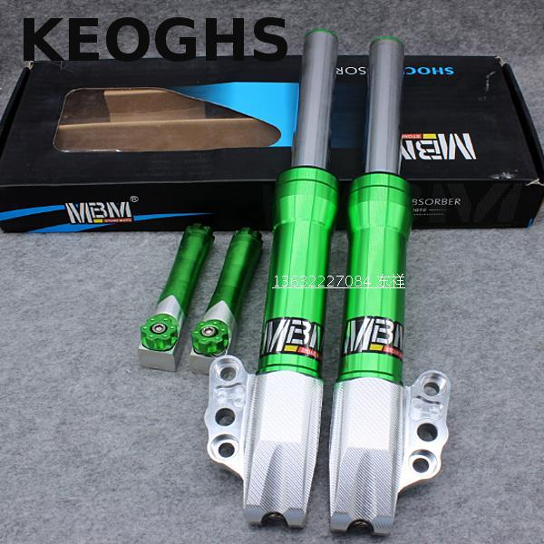 цена на Keoghs Motorcycle Front Shock Absorber/fork Tube/suspension 30mm Green Color For Yamaha Scooter Modify