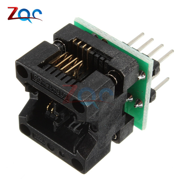 SOIC8 SOP8 to DIP8 EZ Socket Converter Module Programmer Output Power Adapter With 150mil Connector SOIC 8 SOP 8 To DIP 8 programmer testing clip sop8 sop soic 8 soic8 dip8 dip 8 pin bios 24 25 93 flash chip ic socket adpter test clamp