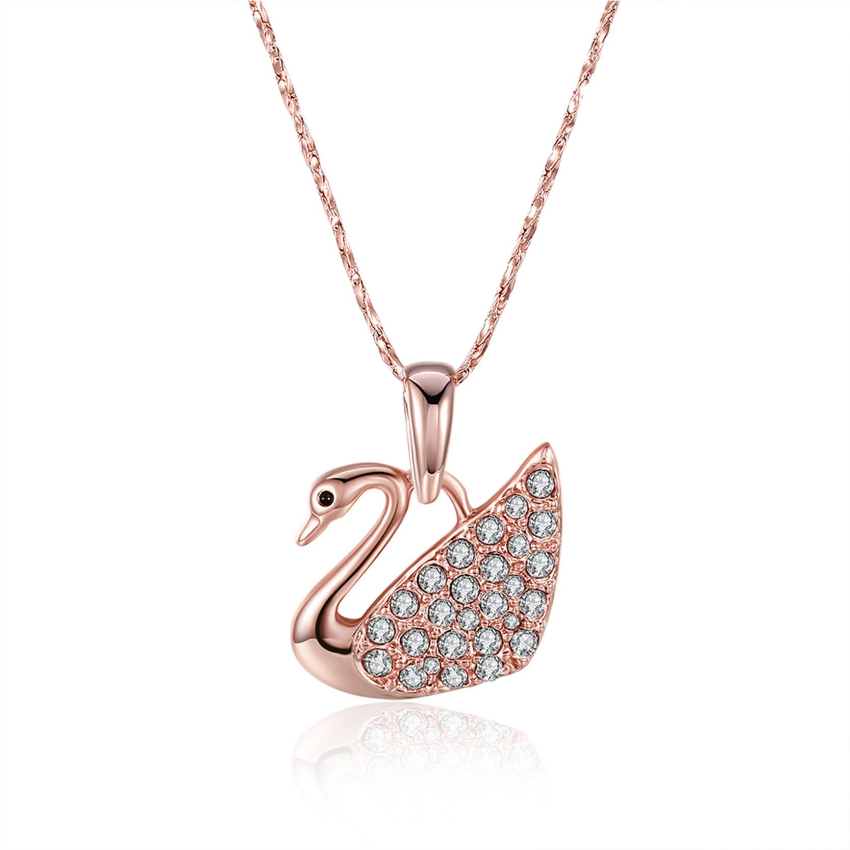 line Get Cheap Gold Swan Pendant Aliexpress