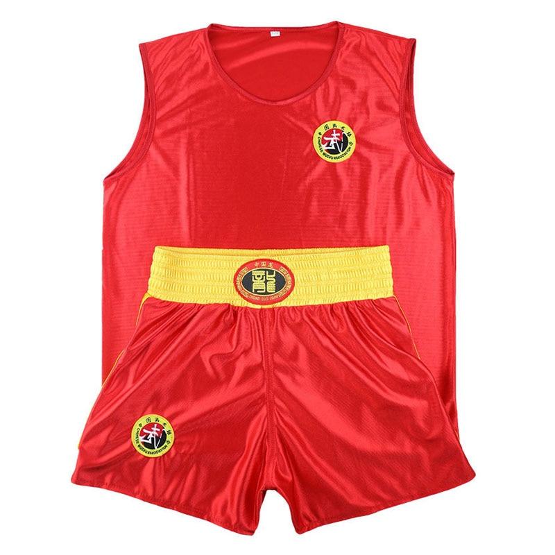 Sanda Sets Kongfu Wushu Suit Muay Thai Boxes MMA Clothes Taekwondo Boxing Clothes Sets Shorts+Jersey Martial Arts Kid To Adult