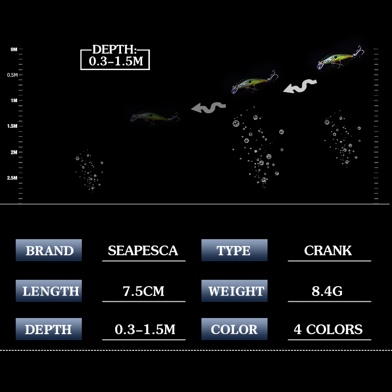 SEAPESCA Τεχνητό στρογγυλό βάδιλο 8.4g 8cm - Αλιεία - Φωτογραφία 4