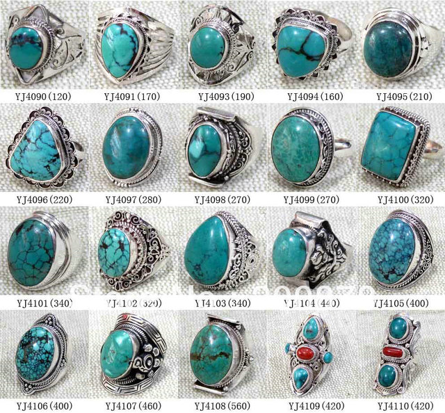 b303a3984 MW-14 Wholesale Nepal India Handmade 925 Sterling Silver inlay Natural  Stone Ring,Mix order