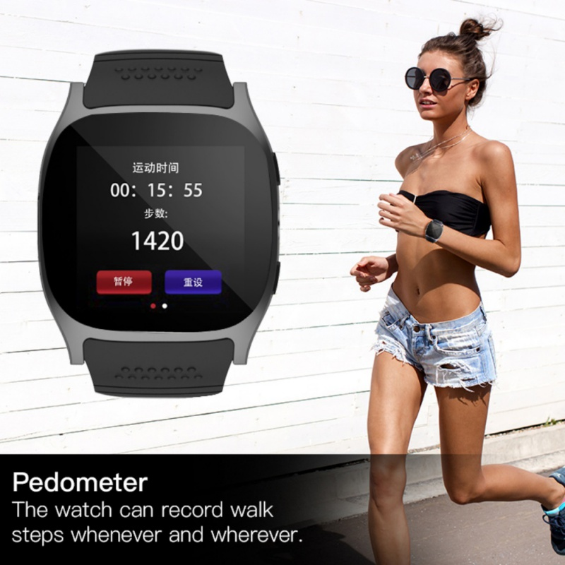 T8 Bluetooth Smart Watches Support SIM &TF Card With Camera Sync Call Message Men Women Smartwatch Watch For Android
