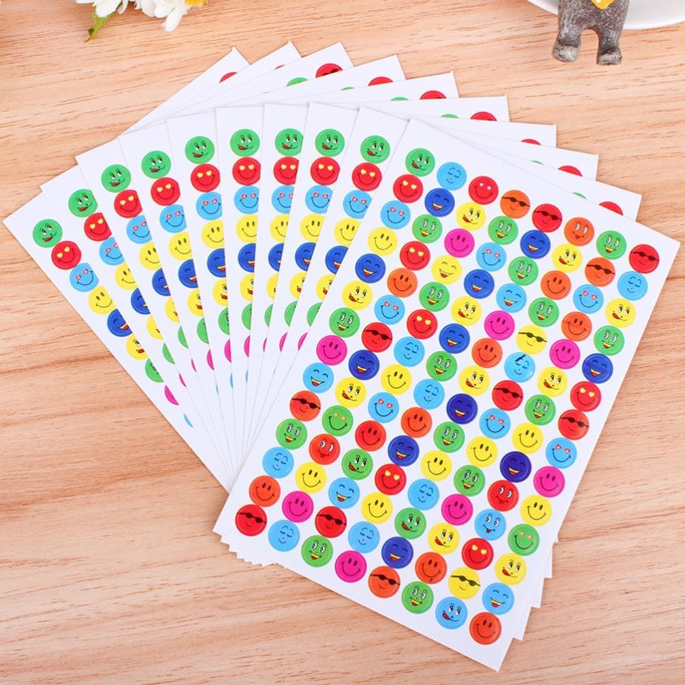 In Persevering 10 Sheets/pack Emoji Stickers Popular Smiling Face Sticker For Diary Photo Album Reward Stickers School Teacher Merit Praise Exquisite Workmanship