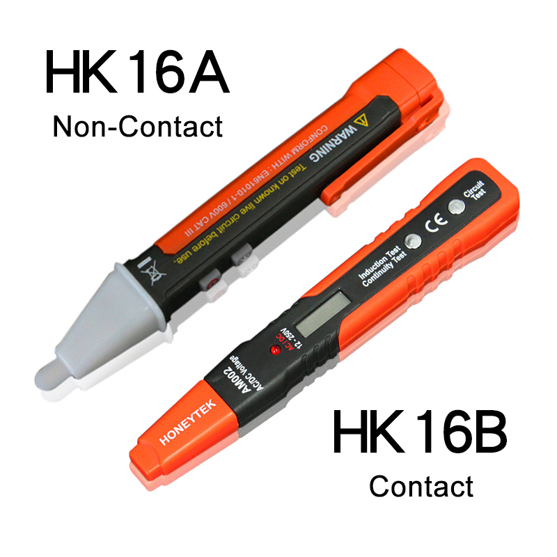 Aolvo Non-contact Voltage Tester Pen Induction Tester Voltage Detector Pen with LED Flashlight AC Volt Meter Volt Alert Electrical Testing Tool Circuit Handy Sensitive Device AC 90-1000 V