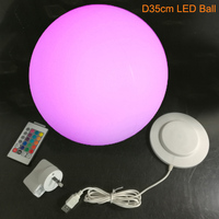 Skybesstech 12cm D15cm D20cm D25cm D30cm D35cm LED Sphere Ball Night Light 16 color change with Remote Control Free shipping 1pc