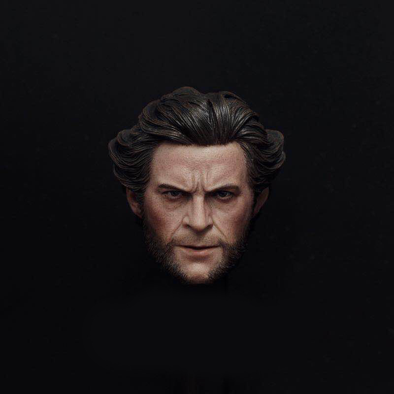 1/6 Phicen Male Head Sculpt Wolverineds Logan Battle Damage Head Model Hugh Jack Young Man For 12 Action Figures Iron Man Toys mak custom 1 6 scale hugh jackman head sculpt wolverine male headplay model fit 12kumik body figures