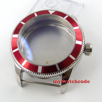46mm 316l aço inoxidável rosa caso relógio de ouro ajuste eta 2824 2836 movement89