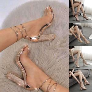 Women Heeled Sandals Bandage T